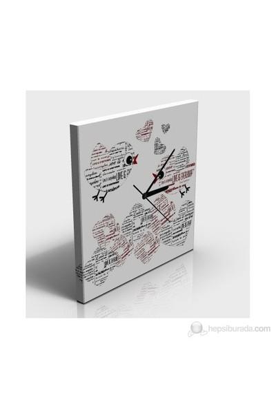 Aşk Kanvas Tablo Saat
