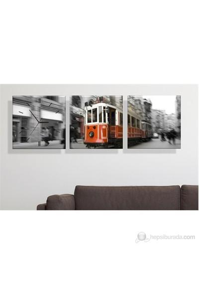 Tramvay 3 Parçalı Tablo Saat