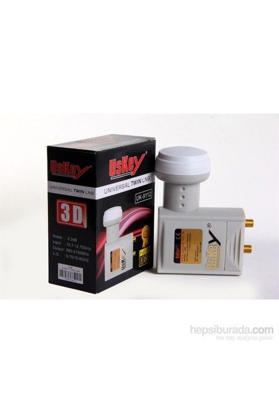 Uskey Uk-9112 Universal 3D 4K Full Hd Çiftli Lnb