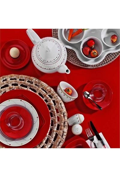 Kütahya Porselen Yasemin 43 Parça 6 Kişilik Desen Porselen Kahvaltı Takımı