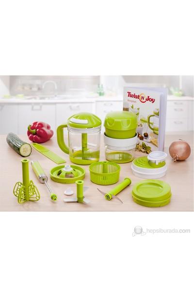 Genius Twist N Joy 12 Parçalı Mekanik Blender Seti Yeşil