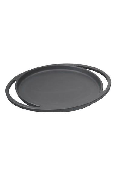 Lava Pizza / Krep / Pankek Tavası Ve Ahşap Altlığı Yuvarlak, Çap(Ø)20Cm.