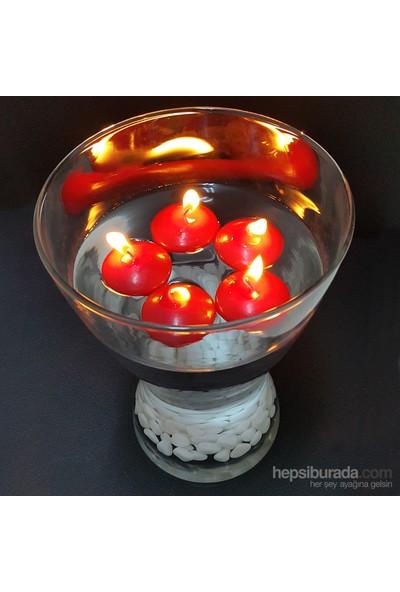 Happy Candle 24 Adet Kırmızı Yüzen Tea Lights Mum Mm06