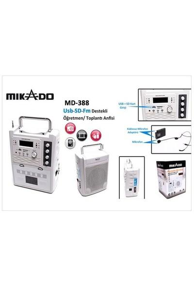 Mikado MD-388 Beyaz Usb-SD-Fm Destekli Öğretmen/ Toplantı Anfisi