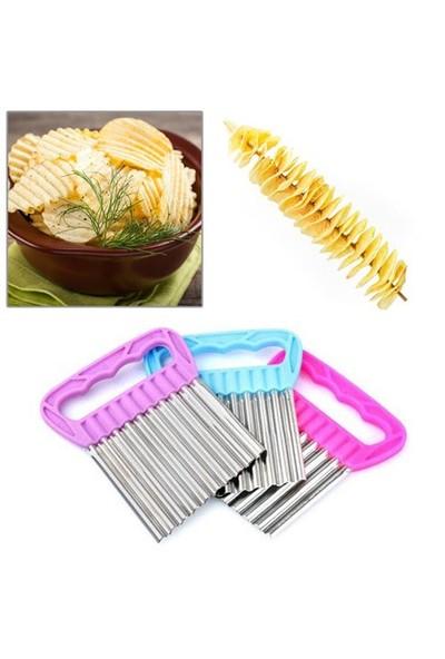 Uygun Pratik Patates Meyve Ve Sebze Doğrama Bıçağı