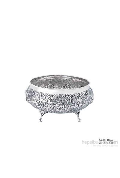 Bayan Lili Papatya Desenli Gümüş Şekerlik
