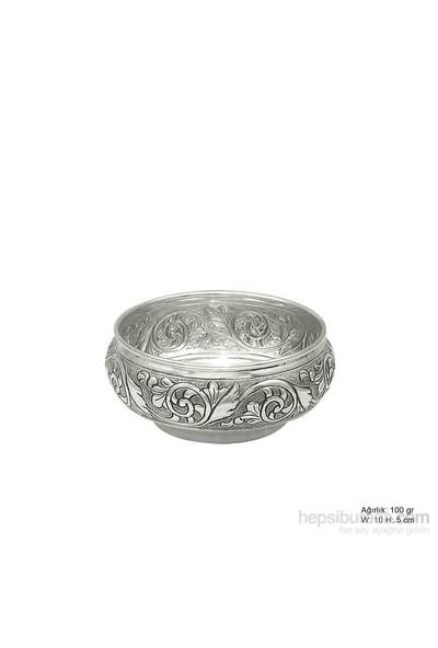 Bayan Lili Yaprak Desenli Gümüş Şekerlik