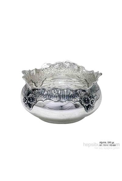 Bayan Lili Orkide Motifli Gümüş Şekerlik