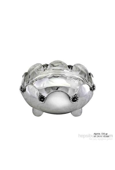 Gumush Orkide Motifli Gümüş Şekerlik