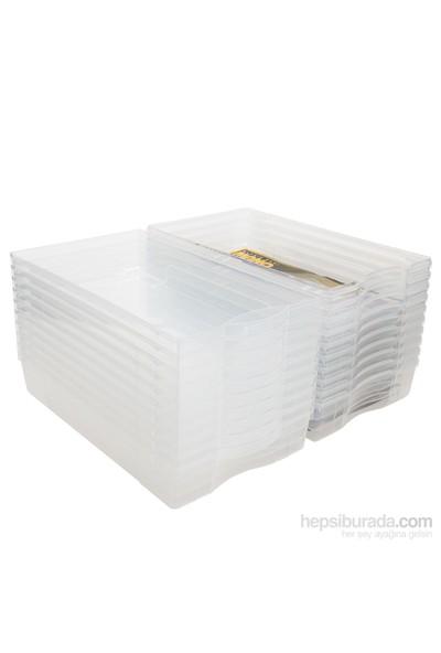 Şeffaf Bayan Ayakkabı Kutusu 5 li Paket