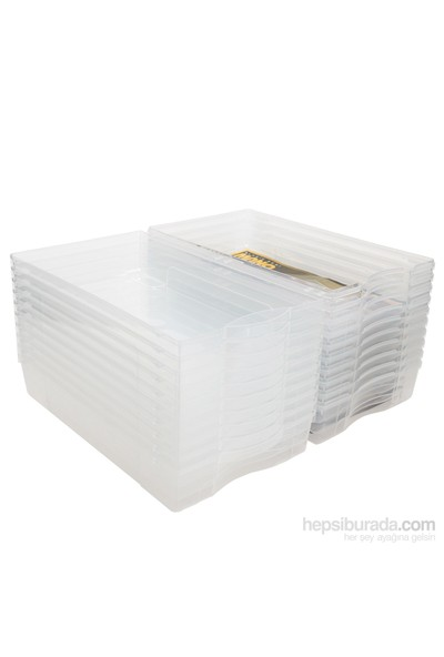 Şeffaf Bayan Ayakkabı Kutusu 10 lu Paket