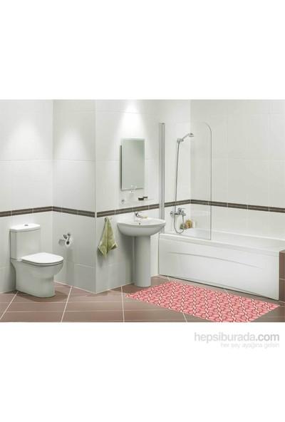 OMAK® Banyo Kaymaz Yolluk 65 x 100 cm (Desen ve Renk: Asorti)