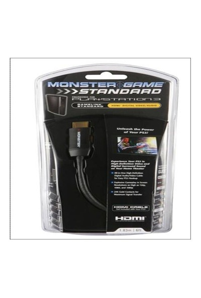 Monster 123969 PS3 hdmi 1.8M Kablo