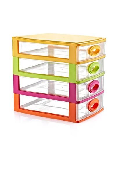 Home Design Çekmeceli Kutu - 4 Katlı