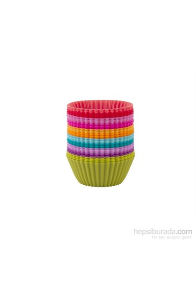 Tantitoni Silikon Renkli 24Lü Muffin Kalıbı