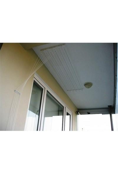 Silim Dekoratif Asansörlü Çamaşır Kurutma Askısı-5 Çubuklu 120cm