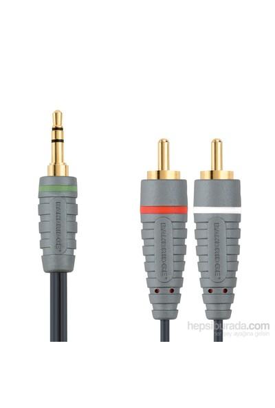 Bandridge BAL3402 3.5mm to 2xRCA 2m Audio Kablo