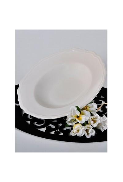 Keramika Tabak Juliet Makarna 28 Cm Krem 031