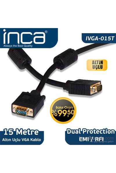 Inca IVGA-015T VGA TO VGA 15M Altın Uçlu Bakır Kablo
