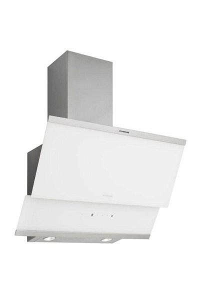 Silverline 3420 Classy Beyaz Cam Davlumbaz 60Cm Yatık Duvar Tipi