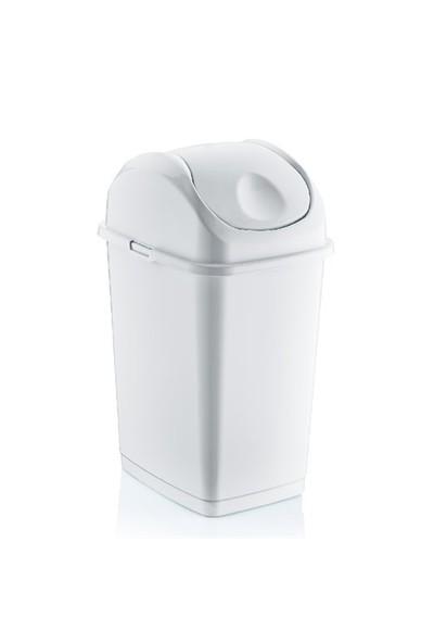 Dünya Plastik 5 Lt.Slim Çöp Kovası Beyaz