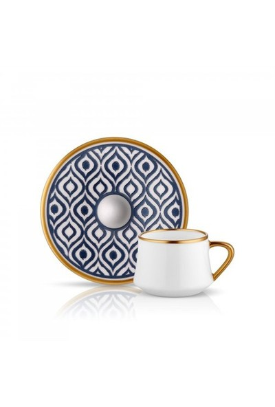 Koleksiyon Sufi Ikat Türk Kahvesi Seti 6Lı Antrasit