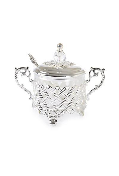 LoveQ Cam Şekerlik Gümüş