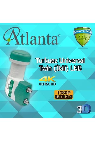 Atlanta Turkuaz Serisi Twin Çiftli Çift Çıkışlı LNB (4K/Full HD/3D)