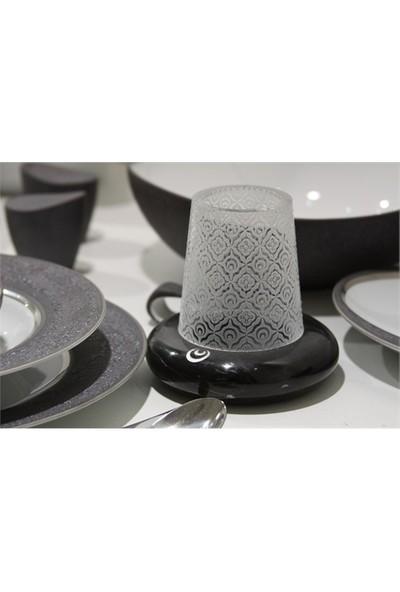 Arte Home Çintemani Siyah Gümüş Mumluk
