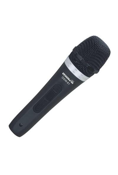 Osawa Osw-61 Kablolu Siyah 6.35Mm El Mikrofonu