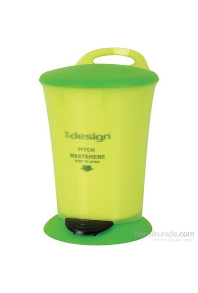 T-Design Plastik Çöp Kovası 16Lt Yeşil