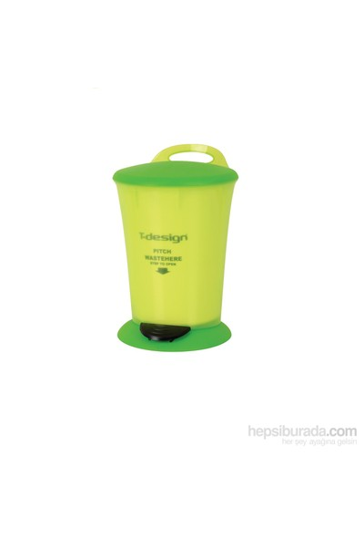 T-Design Plastik Çöp Kovası 4Lt. Yeşil