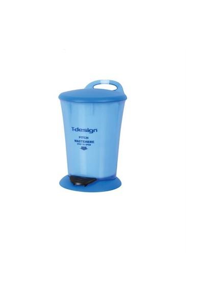 T-Design Plastik Çöp Kovası 4Lt. Mavi