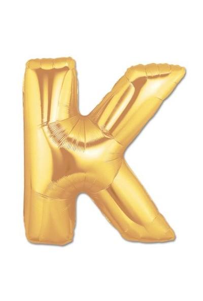 K Harf Gold Folyo Balon