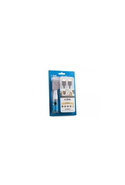 S-Link Slx-370 Hdmı M/M 1.5M Temizleme Sprey + Micro Fiber 1.4 Ver. 3D + Hdmı Kablo Set