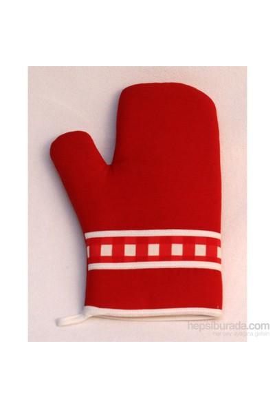 Homaks Fırın Eldiveni Kırmızı Ekose Bantlı