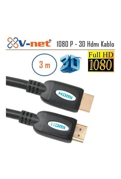 V-Net HDMI 3m 1.4 Vers. 3D, Full HD 1080P Kablo