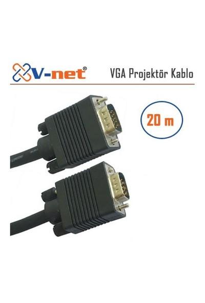 V-Net VGA 20m Video Projektör Kablo