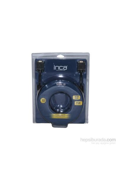 INCA IVGA-10 10MT Altın Uçlu Blister VGA Kablo