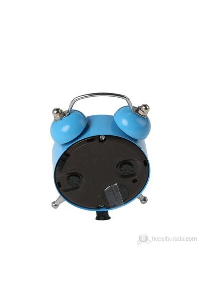 Alarmlı Mavi Mini Masa Saati