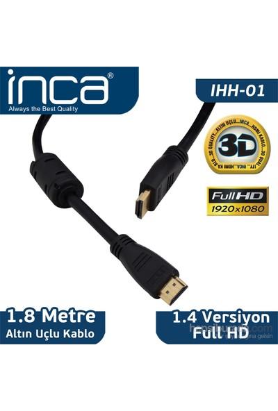 Inca HDMI to HDMI 1.8MT Altın Uçlu Kablo (Blister+Askılı) IHH-01