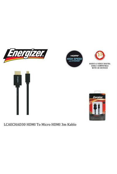 Energizer Lcaechad30 Hdmı To Micro Hdmı 3M Kablo