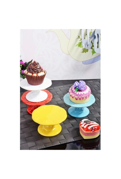Paşahome Seramik 4'Lü Cup Cake Ve Muffin Standı