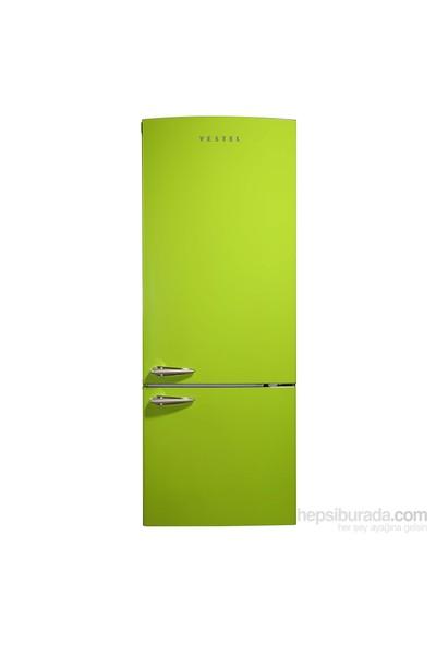 Vestel Retro NFK510 A+ 510 lt No-Frost Buzdolabı - Yeşil