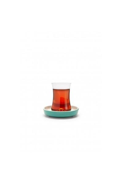 Koleksiyon Tiryaki Çay Seti 6lı Turkuaz