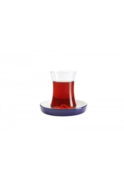 Koleksiyon Tiryaki Çay Seti 6Lı Kobalt