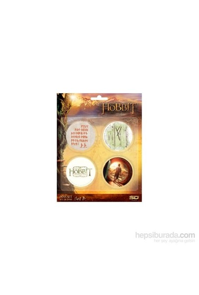 The Hobbit Badges Set B Hobbit Rozet Seti