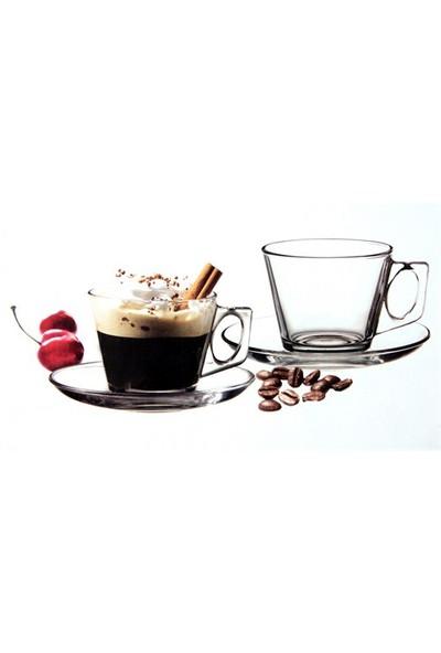 Paşabahçe Vella Tabaklı Çay Kahve Takımı 6Lı