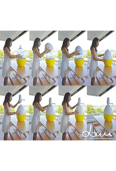Dami Pompa Basmalı Damacana Kılıfı Rose + Özel Beyaz Pompa