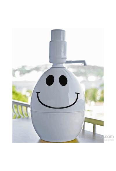 Dami Pompa Basmalı Damacana Kılıfı Smiley + Özel Beyaz Pompa
